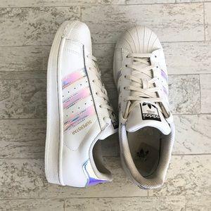 best website ea88f 93829 adidas Shoes - Adidas Iridescent Hologram Superstar 8.5 Women s
